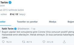 Fatih Terim'in Korona Virüsü Testi Pozitif mi Çıktı