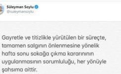 İçişleri Bakanı Süleyman Soylu İstifa Etti, Kabul Edilmedi