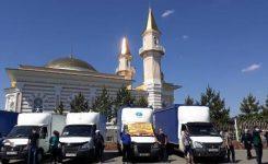 Kazakistan'da Selden Zarar Gören Türkistan Bölgesine Yardım Kampanyaları